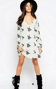 Free People Trapeze Emma Embroidered Swing Dress